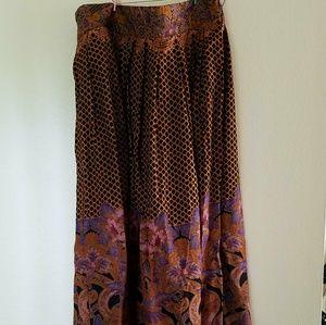 Vintage Ornate Maxi Skirt